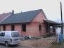 RD Lužice, montáž krovu